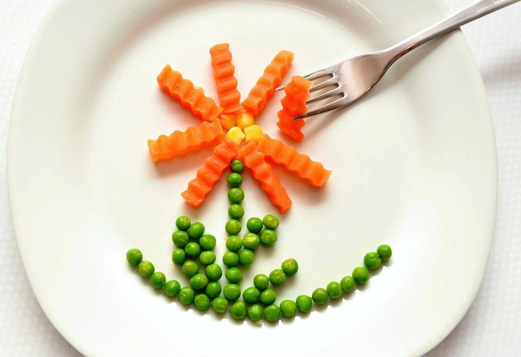 eat, carrots, peas