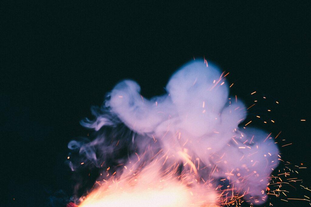 fireplace, smoke, fire